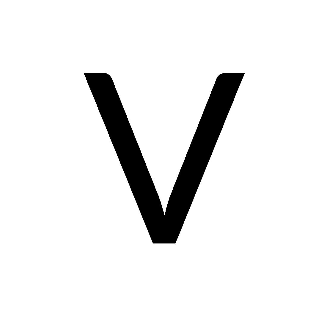 Lettre V transparante